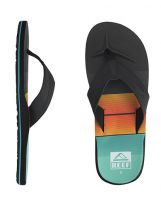 Tongs Reef HT Print - Turquoise/Orange/Black