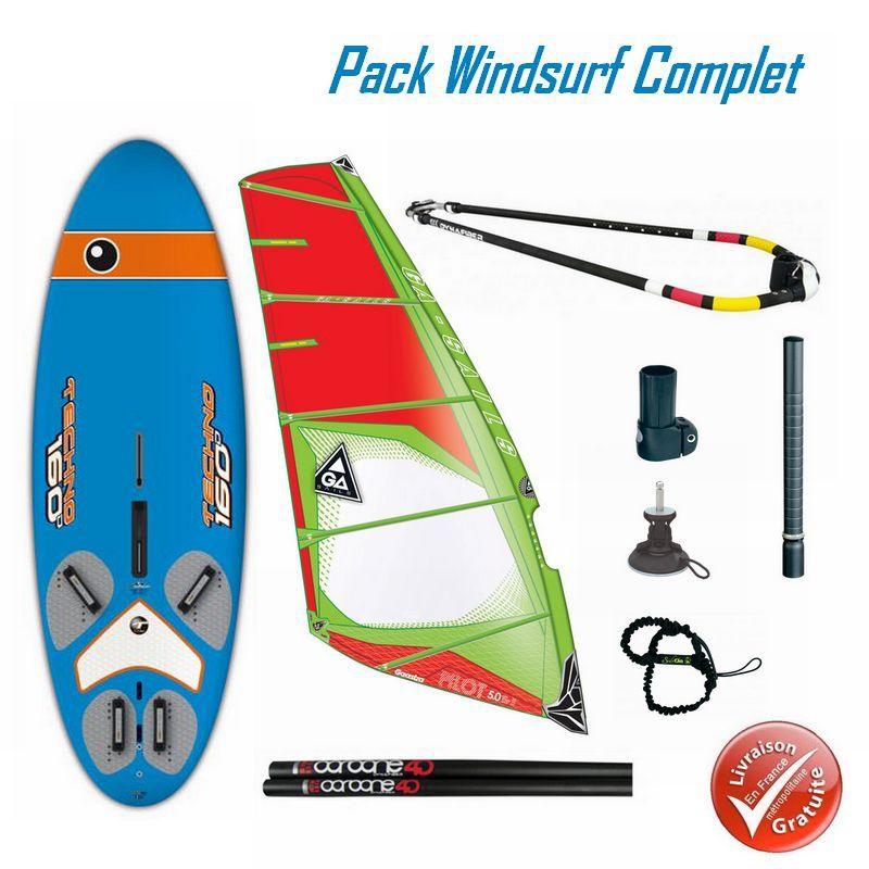 Pack Windsurf Bic Techno Derive Et Greement Gasstra Pilot Bic
