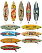 Planche de Décoration de Surf en Bois
