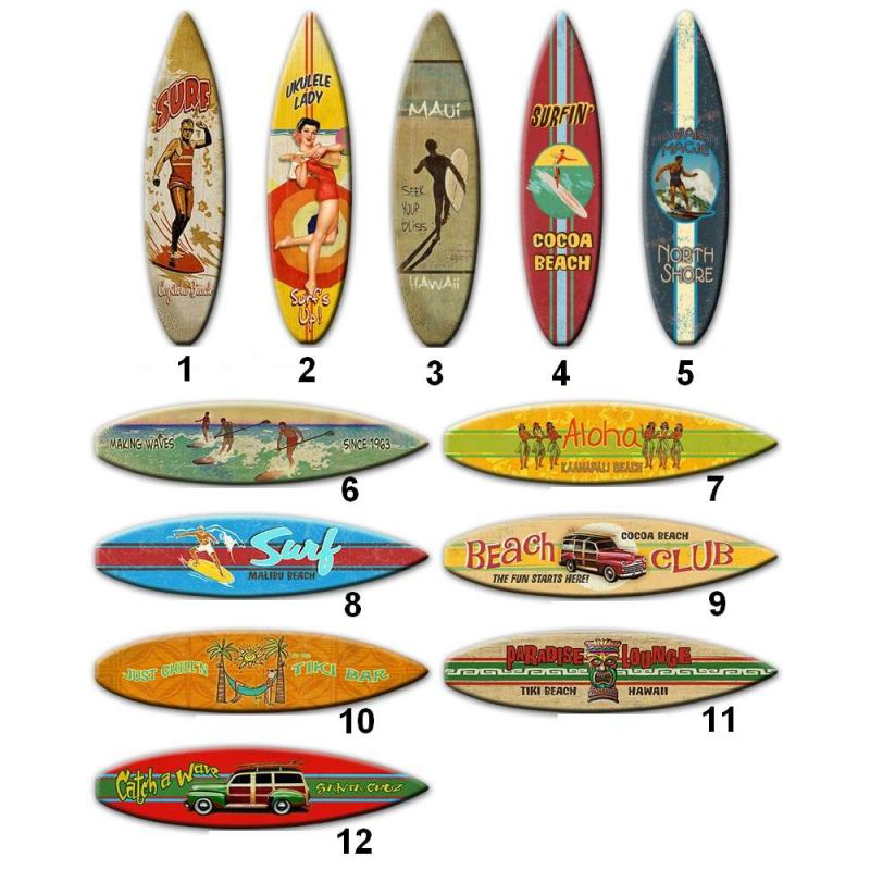 Planche De Surf En Bois Decoration