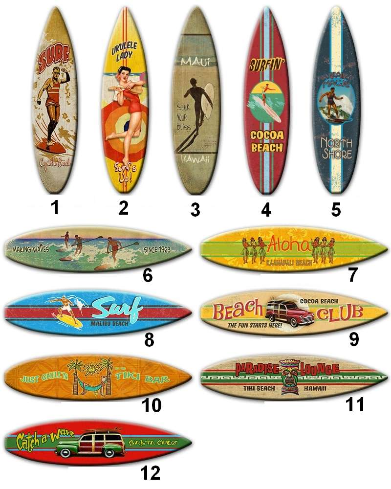 Planche En Bois Deco planche de décoration de surf en bois