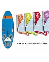 Pack Windsurf Bic Techno 160D ou 185D ou 240D et Gréement Side On
