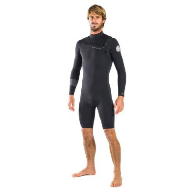 Shorty Rip Curl - Aggro 2/2 Chest-Zip Manches longues - Slate 2017