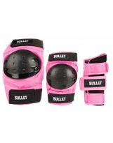 Pack Bullet Junior - Coudières, Genouillères, Poignets Pink