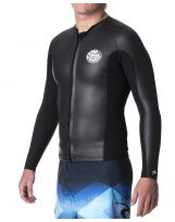 Top Rip Curl - Aggro 1.5mm Manches Longues Fron Zip - Black