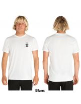 T-shirt RipCurl - anti UV manches courtes Search Logo - White