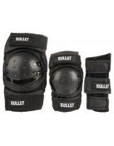 Pack Bullet Junior - Coudières, Genouillères, Poignets black