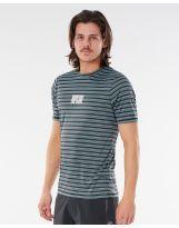T-shirt UV - Rip Curl Mind Wave Stripes - Mid Blue