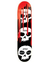 Deck Zero 3 Skull Blood Black 8.125'