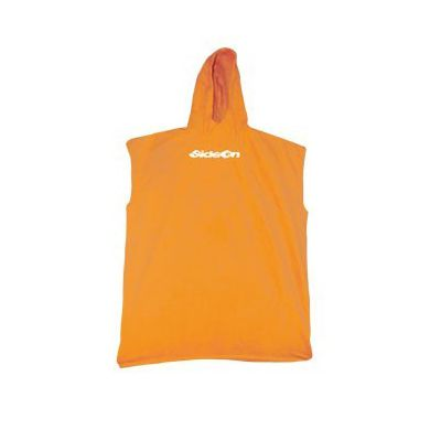 Poncho Tissu Coton Side On Orange Junior